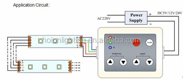 2015 New product DC5V 12V~24V 60W144W 288W 6 keys film RF Controller RGB LED controller 2 years warranty CE,RoHS