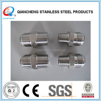 Provide stainless steel female threaded quick double end hydraulic adapter