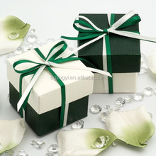 2015 White&Green lid and base custom paper gift box