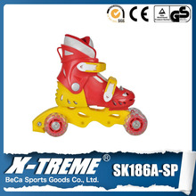 Hot sales professional inline speed skates for sale 3 wheels rubber wheel roller skate