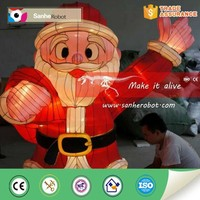Christmas santa claus model,musical lanterns