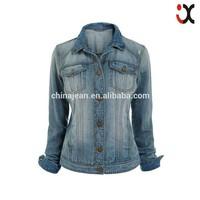 2015 korean style women clothing wholesale denim jean Jacket (JXW1520)