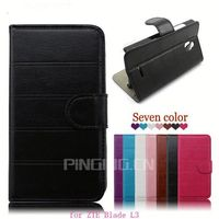 Wholesale mobile phone case for ZTE Blade L3,leather cover flip case for ZTE Blade L3