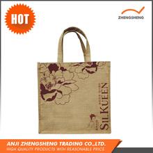 Promotional Factory Made Natural Color Burlap Jute Tote Bag