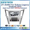 Zestech car headunit auto parts for Subaru Legarcy Outback 2013 Car dvd gps
