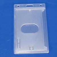 Free design vertical badge id card holder, plastic name badge holder