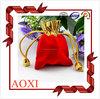 Wholesale fashion customized printing gift velvet reticule bag