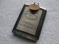 подлинный серъёзная(ый) 8oz - 67pt - 5c Джек Дэниэлс черный чип 8 унций нержавеющей стали фляга бутик 304