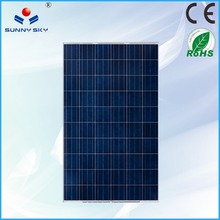 water proofed 250w high efficient cooled solar panel TYP250