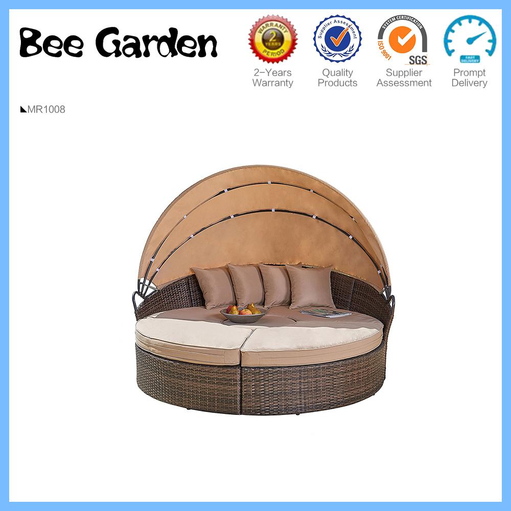 Silla de playa impermeable al aire libre de la silla de playa redonda del ocioso redondo sunbed de la rota caliente de la venta