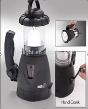 Good Service rechargeable solar portable led dual function hand crank camping lantern