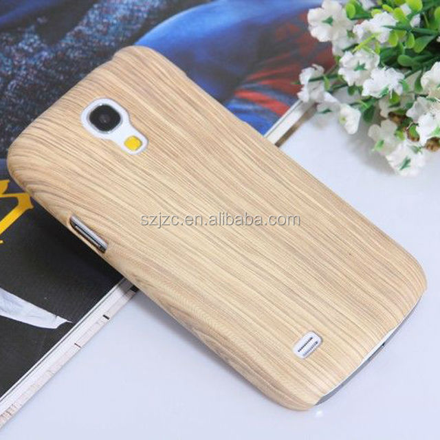 For Galaxy S4 mini case with sublimation image, wood grain PC for Samsung protective case