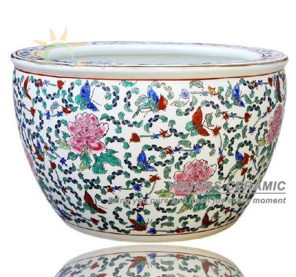 wholesale large chinease famille rose ceramic plant pots. Black Bedroom Furniture Sets. Home Design Ideas
