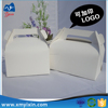Custom white paper food packaging box with handle