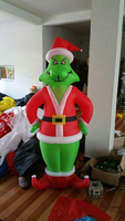 free ship by DHL 2.1m tall Christmas decoration inflatable grinch with blower&light