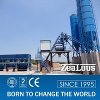 HZS75 concrete batching plant process flow manufacturer in China