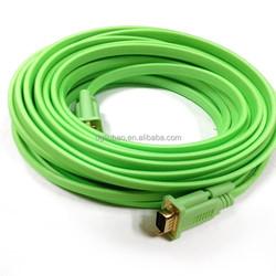 15 pin male to male VGA flat cable 1.5M,1.8M,3M,5M,10M,15M,20M,30M
