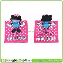 minnie mouse cartoon design hooded poncho towel kids