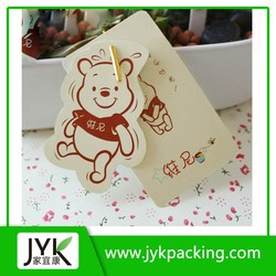 Thick paper hangtag Die cut high quality paper price tag custom name tag for clothing