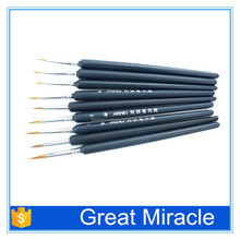 9pcs wholesale artist paint brush paintbrush for oil painting paint brush pen for watercolor painting