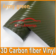 car accessories 1.52*3m self adhesive wrapping paper with air free bubble/ 3D carbon fiber
