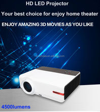 2015 New Arrive Android 4.2 4500lumens LED Projector 1920x1080 Multimedia LCD Digital Projector Home theater TV Beamer
