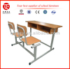 Wooden Top and 2 Seat Student Desk