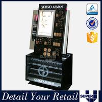 makeup display case,acrylic makeup display,stand makeup display for cosmetic retail