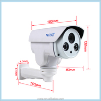 High quality HD IP PTZ 960P 1.3MP varifocal 2.8-12mm p2p infrared bullet cctv zoom camera