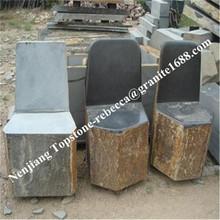 garden chair stone granite park bench