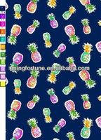 spandex pineapple print fabric
