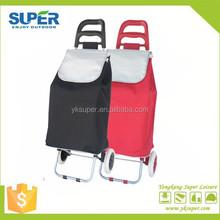 new design 2 wheel popular fashion fold up shopping cart with bag