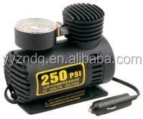 PowerLink Portable Electric Mini Air Compressor 12 Volt 250 PSI Inflates Auto and Bike Tires Basketballs Footballs