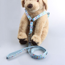 New style easy walk dog harness blue dog body harness