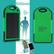 portable handphone Solar laptop Charger for tablet laptop with led light 5000mah