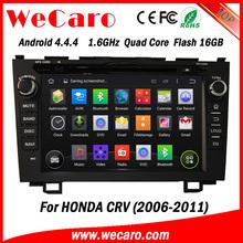 "Wecaro android 4.4.4 car dvd player Wholesales 8"" for honda crv 2014 car dvd bluetooth 2006 - 2011"