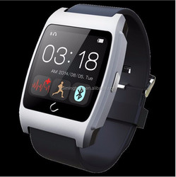 Shenzhen factory smart watch 2015 with NFC function, wristband watch for iphone with heart rate monitor