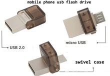 2GB/4GB/8GB/16GB/32GB/64GB mobile phone usb flash drive with OTG usb