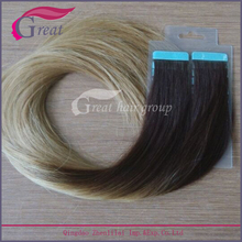 factory wholesale price Brazilian ombre color hair weave gray