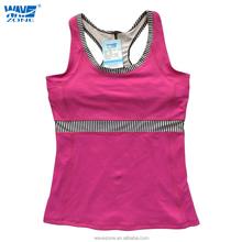 Fashion pink yoga tank tops