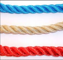colorful 3-strand polyester ropes
