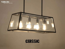 Pendant Lamp Vintage Lighting Fixture American Heads Metal Glass Bulbs Light Fixture Base Pendant Lamp Vintage