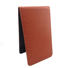pu leather golf score card cover with printing logo