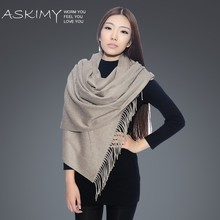 high quality new design solid color fashion pure cashmere shawl