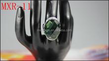 Trendy unique emerald cubic zirconia stone men ring