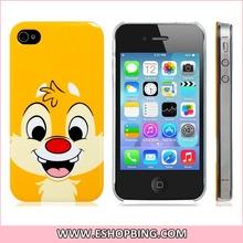 Cute Squirrel Print Hard Plastic Case for iphone 4 4S Orange