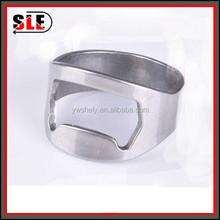 Stainless Steel Finger Ring Bottle Opener Lightweight for promotion
