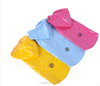 Polyester Puppy Small Dog 2-legged Rain Jacket + Carrying Pouch 2-layer Doggie Hooded Raincoat Lined Outdoor Rain Gear Jumpsuit