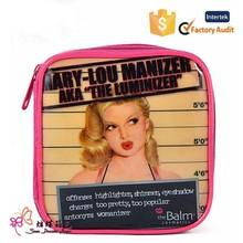 new design pattern cosmetic bag pu make-up kit beautiful cosmetic bag