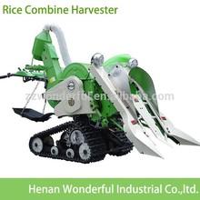 Nuevo estilo mini-paddy caminar precio cosechadora de arroz cosechadora